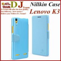 Lenovo K3 case Nillkin Fresh series Protective PU Leather flip case for Lenovo Lemon K3 cover case free shipping