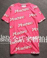 Free Shipping 2015 summer new fashion women's cute barbie pink logo letter print short sleeve cotton loose long t-shirt dress