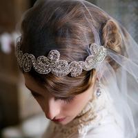New European and American retro luxury rhinestone women  headband tiara wedding Bridal Accessories Accessories