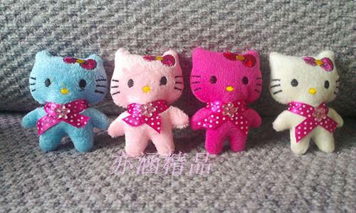 free shipping Plush Stuffed TOY, Mini 8CM Multi-Styles Hello Kitty Etc, Mobile Cell Phone Pendant Charm Strap Lanyard Key Chain(China (Mainland))