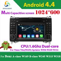 2 din Car DVD GPS Android For Benz A-class W169 B-class W245 Viano Vito W639 Sprinter W906 W209 W311 W315 W318 with WIFI 3G GPS