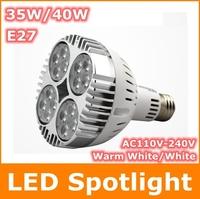 E27 35W 40W COB Cree LED Spotlight Bulb AC100-240V  Warm White High brightness Energy Saving Led bulb lamp Light