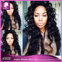 Peruvian Body Wave Lace Front Wigs Glueless full lace Human Wigs Remy for Black Women Natural Wavy
