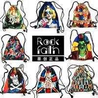 8 Kinds Fashion Women Printing Backpack Canvas Vintage Original Animal Backpacks Travel Duffel Bag New 2015 Back Pack Schoolbag
