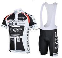 Free shipping! BMC 2011 xmn short sleeve cycling jersey bib shorts set bike bicycle wear clothes jersey pants,gel pad