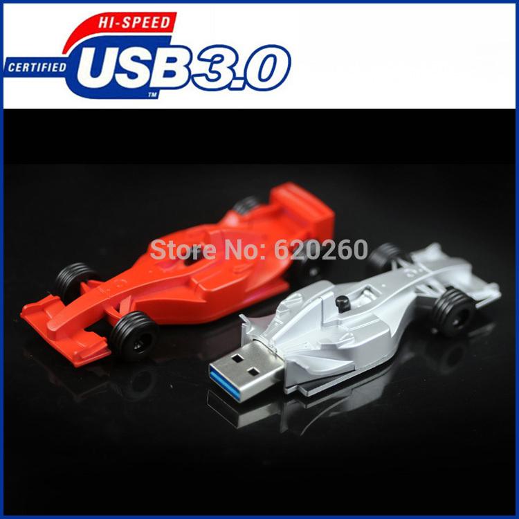 Pen drive 64gb Racing car shape usb flash drive,usb3.0 creative gift, usb stick 8G 16G 32G usb flash drive F1 automobile usb3.0(China (Mainland))