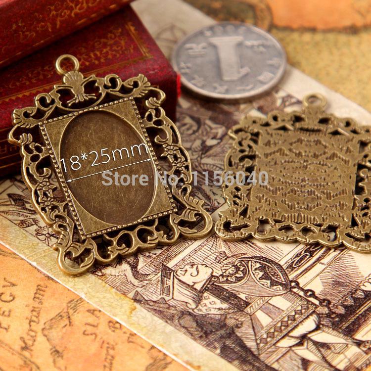 18*25MM Antique Bronze Plated Oval Pendant trays,jewelry mountings settings pendants,pendant bezel,cabochon jewelry,10pcs/lot(China (Mainland))