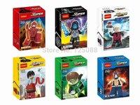 Decool 0192-0197 6pcs Building Block set Super Heroes Avengers Green lantern Daredevil Electro Flastic Man Bane Minifigures gift