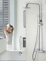 Shower Set Bathroom Good Quality Thermostatic 8 inch Rainfall Shower Head 53974 Bath Tub Shower Water Tap Faucets,Mixers & Taps