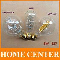 Antique Retro Vintage Squirrel-cage Filament 3W 220V Edison Light Bulb E27 Incandescent Light Bulbs ST64 G95 G80 125 Edison Lamp