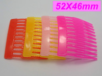 20 Mixed Color Plastic Hair Clips Side Combs Pin Barrettes 52mm for Girls