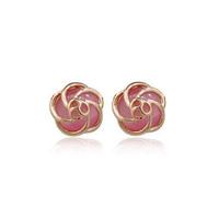 Crystal accessories earrings jewelry powder cutout flower - eye