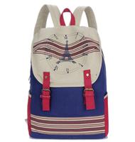 Big Clock Tower Vintage Canvas Backpack Mochila Femininal Women and Men Travel Bags High Quality Shoulder Bag School Bag