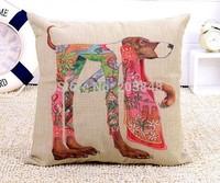 45*45cm Newest Linen Cotton Cushion Cover High Quality Dog Lion Fox Monkey Throw Pillow Cover Pillowcase Almofadas decorativas