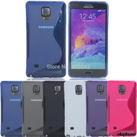 Free shipping TPU Rubber Gel Case Cover Skin For Samsung Galaxy Note 4 N910/Note Edge N915s