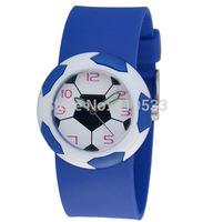 new High quality Free Shipping 20pcs/lot boy sports football watch, Quartz jelly watchBirthday Party Gift