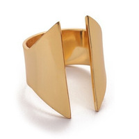 New Fashion Jewelry K Gold Geometric Open Mouth Ring For Women High Quality Jewelry Wholesale