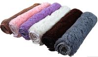 40*60cm  Living Dining Bedroom Car Flokati Shaggy Ivory Wool Rug Anti-skid Carpet Seatmat tapetes de sala alfombras banheiro
