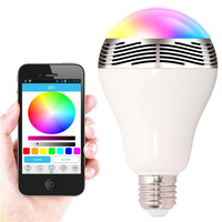 2015 new smart romantic bulb 2 in 1 Bluetooth 4.0 smart LED Bulb with speaker 3W E27 RGB Lamp cellphone controlled