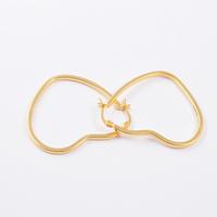2015 New Fashion Brand Lovely Heart Earrings 18k Gold / Silver Filled Titanium Steel Hoop Piercing Earrings for Women Hot Sale!