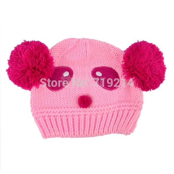 Lovely Animal Panda Baby Hats And Caps Kids Boy Girl Crochet Beanie Hats Winter Cap For Children To Keep Warm b14 8189(China (Mainland))