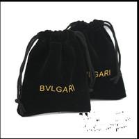 on sale, 50pcs/lot , 8*10 cm,square shape,   B -brand  jewelry  black  color pouches