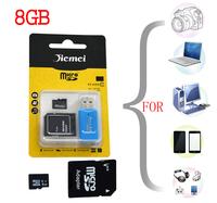 Memory Cards mejor quantlity  Ventas al por mayor  tarjeta de memoria de  8GB class10 de tarjeta micro sd + adaptador de paquete