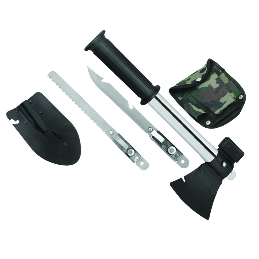 Multifunction outdoor camping survival axe folding shovel edcgear machete emergency gear and car rescue saw knife