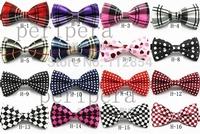 Free Shipping+Wholesale Fashion Mix Colors Novelty Mens Unique Tuxedo Bowtie Bow Tie Necktie,200pcs/lot