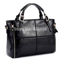 2015 Hot PU leather bags women handbag fashion patchwork designer brand high quality ladies office messenger shoulder bags