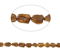 Free shipping!!!Keishi Cultured Freshwater Pearl Beads,fantasy women jewelry, coffee color, 13-16mm, Hole:Approx 0.8mm