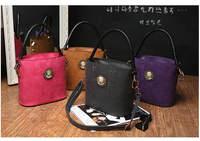 Scrub Leather Serpentine Patterns fashion Bucket Handbag Ladies Braided Rope Handle Handbag Messenger bag Shoulder Bag 773e