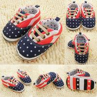 Cute Infant Toddler Baby Boy Girl Non-slip Sole Crib Shoes Prewalker Newborn Hot