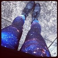 LuckDy Galaxy Cosmic Space Printed Leggings Star Europe Leggings Plus Size Leggings factory direct wholesaleGalaxy Pants