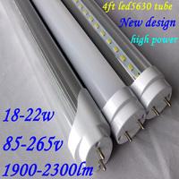 Free shipping 25pcs Led tube t8 120cm 22w high brightness1900-2300lm 85-265v 4ft led tube led fluorescent lamp 5630chip