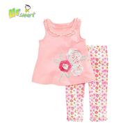 Baby Girls Clothing Sets New Girls Clothes roupas meninos Flower printed Dress Pants Sports Costume Pajamas Children's Clothing