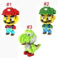 LOZ Super Mario Luigi Yoshi diamond blocks models building toys educational blocks children gift 3styles 90pcs/lot free shipping
