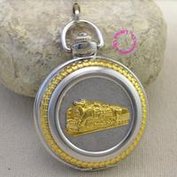 fashion quartz gold train head pocket watch man classic vintage antique fob watches men retro golden ancient arabic gift new hot
