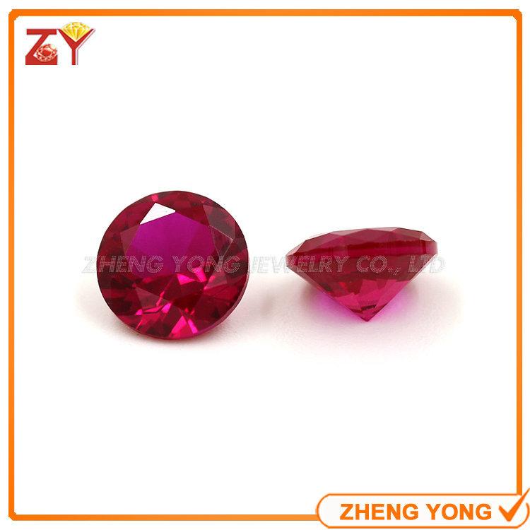 8.0mm Round Shape Brilliant Cut Synthetic Gemstone Ruby 5# Loose Beads(China (Mainland))