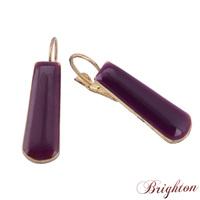 Simple Style Jewelry Elegant Romantic Purple Gold Plated Silver Plated Enamel Clip Earrings Bijoux