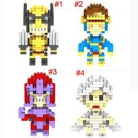 LOZ X-MEN Wolverine Storm Cyclops Magneto mini figure building Blocks Diamond bricks Toy Sets Child gift 80pcs/lot free shipping