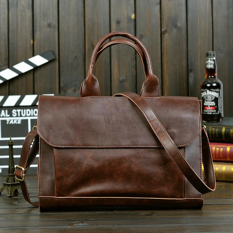 Top quality men's travel bags korean men briefcase luxury business bag pu leather brand hand bag designer handbags outlet(China (Mainland))