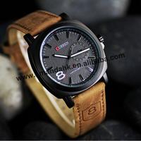 100pcs/lot Men Business Quartz Sport Watches Military Men Leather Strap Watch Army Vogue Casual No Tag Wrist Watches