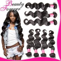 3 bundles of Virgin Brazilian Body Wave Human Hair Weaves, 100 Virgin Brazilian Wavy Hair Weft Brazilian Virgin Hair Body Wave