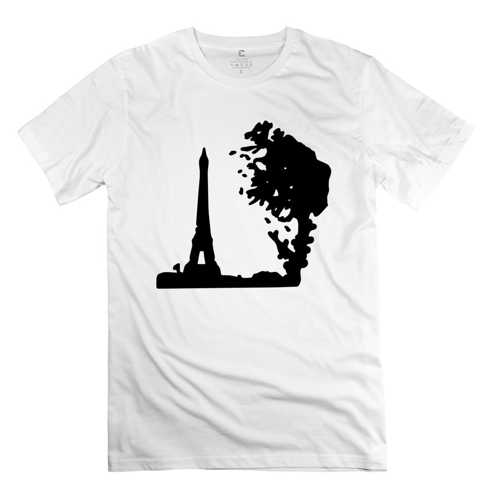 cheap man's t-shirt Paris eiffel tower France t shirt for boyfriend fitness(China (Mainland))