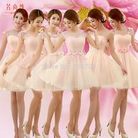 Yarn 2014 pink short design  formal dress plus size sisters Evening Dresses