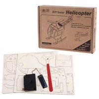 3D DIY Creative Solar Helicopter Pattern Build Collect Educational Kit Puzzle Jigsaw Game for Kids