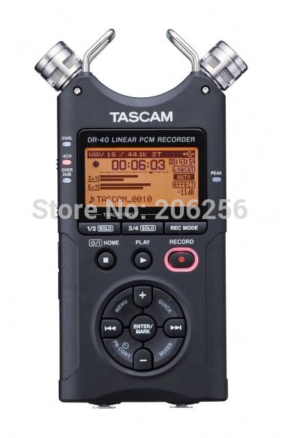 Tascam dr-40 handheld digital voice recorder professional recording pen original brand FREE SHIPPING(China (Mainland))