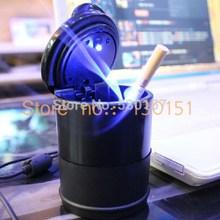 Universal Cigarette Holder LED Light Car Ashtray Auto Portable Car Cigarette Ashtrays, With Retail Box, 600pcs/lot Wholesale(China (Mainland))