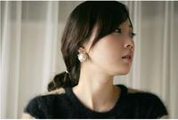 C25R9 Wholesale 12 pairs/lot  Fashion earrings OL gold plated Erding pearl temperament Woman Luxurious Paragraph korean earrings